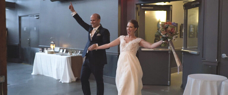 wedding held at Steam Whistle Brewing in Toronto