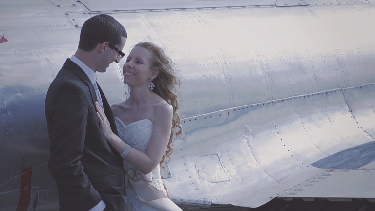 Canadian Warplane Heritage Museum Wedding Video Mount Hope in Hamilton